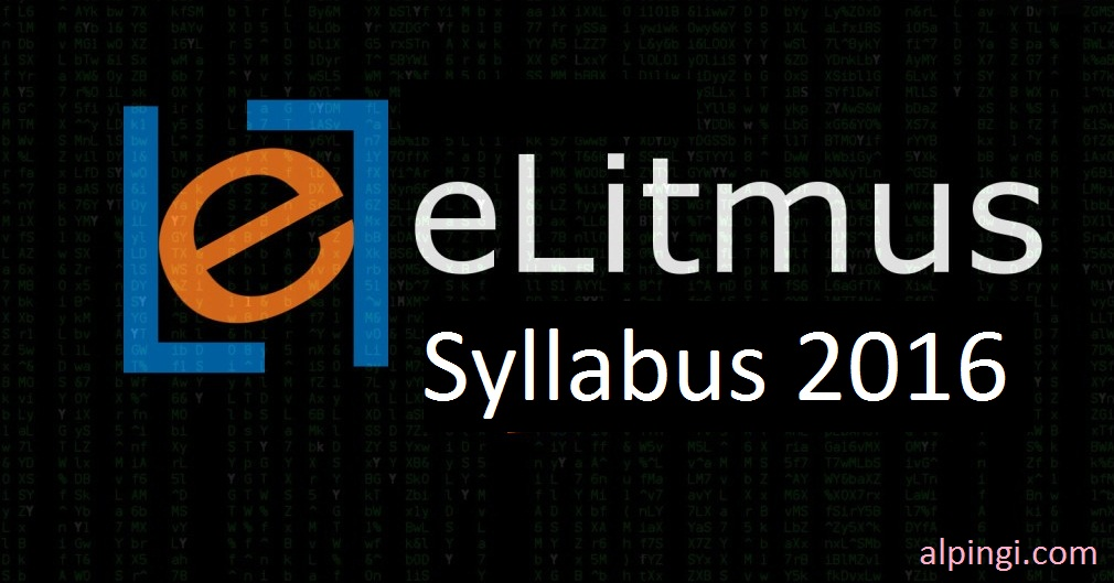 eLitmus syllabus 2016 and Question Paper Pattern